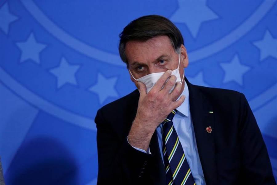 巴西總統波索納洛確診。(路透)