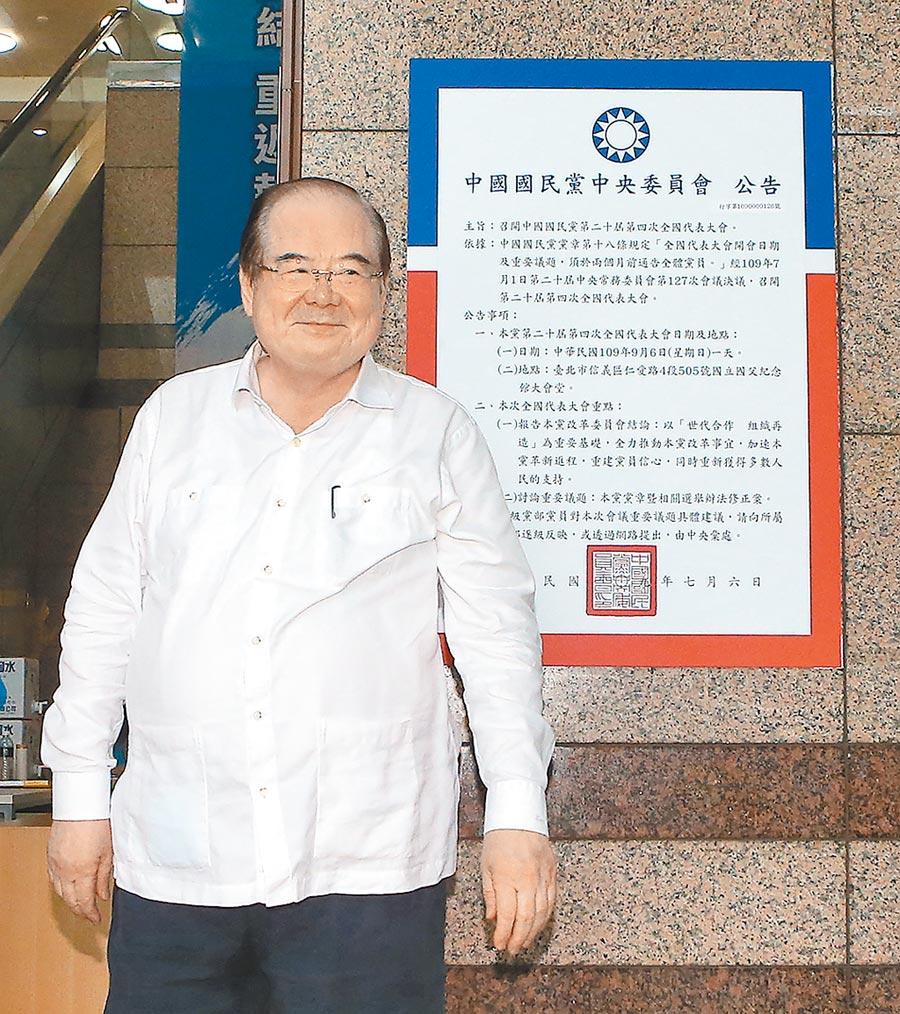 國民黨祕書長李乾龍。(趙雙傑攝)