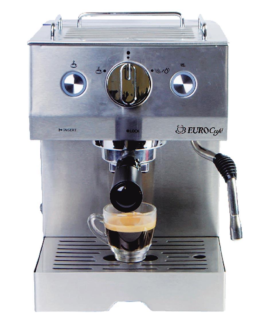 新光三越台北南西店15日起限时限量,JURA Eurocafe EU305义式半自动咖啡机,原价1万3500元、实体三倍券专属价5990元,44折。(新光三越提供)