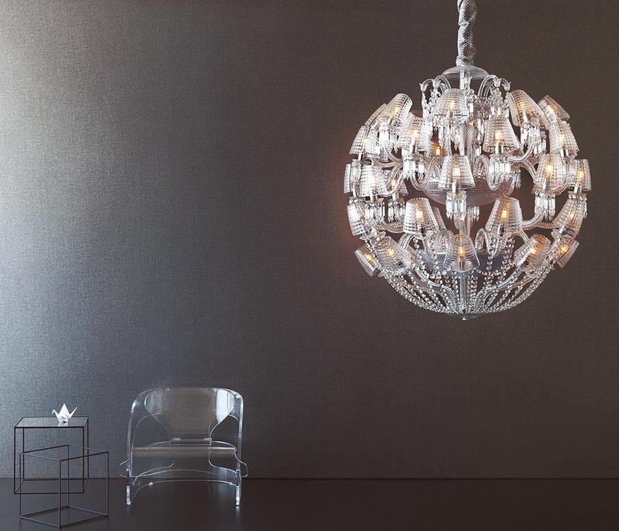 Baccarat太陽王吊燈,414萬3700元。(居禮名店提供)