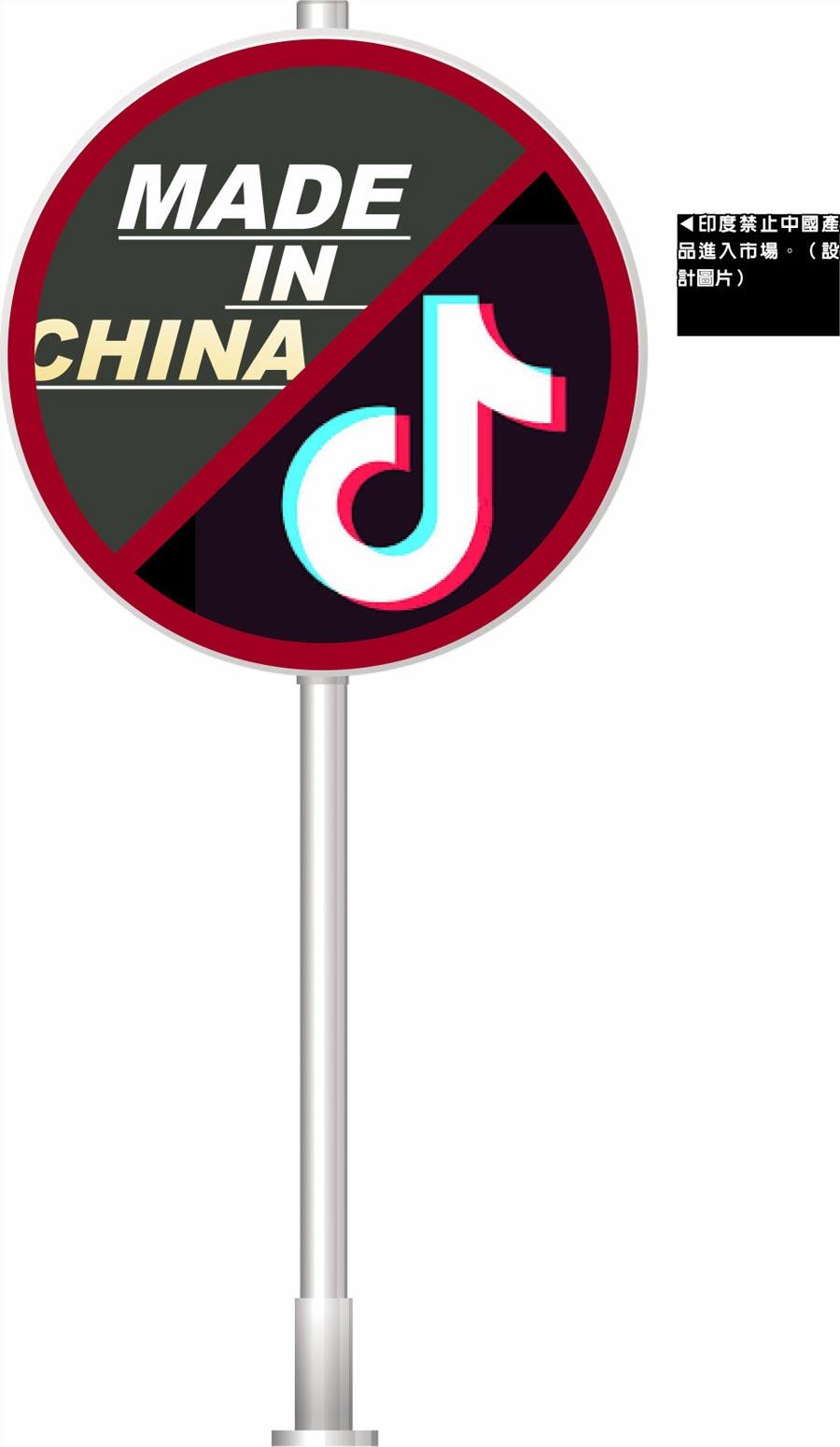 印度禁止中國產品進入市場。(設計圖片)