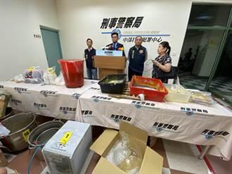 台中警方破獲可製2300萬顆一粒眠合法化學原料 市值20億元