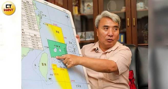 蘇澳區漁會總幹事陳春生是925保釣行動的發起人,他呼籲政府要強硬一點,維護漁民的生計以及未來子孫吃魚的權益。(圖/張文玠攝)