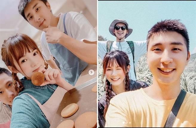 吳心緹私下常分享和胡釋安一行人出遊約會照片。(圖/翻攝自esther_xinti IG)