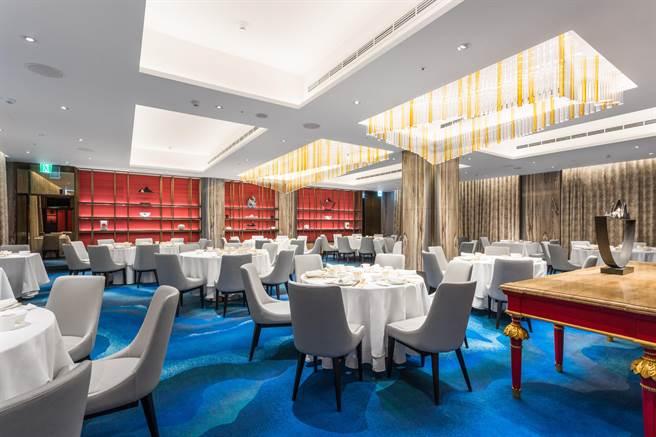 國賓川菜廳去年歷經五個月裝修,展現全新時尚面貌 。(國賓提供)