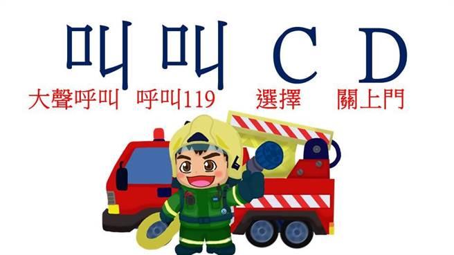 高雄市消防局推出動畫「三隻小豬與火野狼第二集」,以口訣「叫叫CD(選擇、關門)」,宣導火災知識。(高雄市消防局提供/林瑞益高雄傳真)