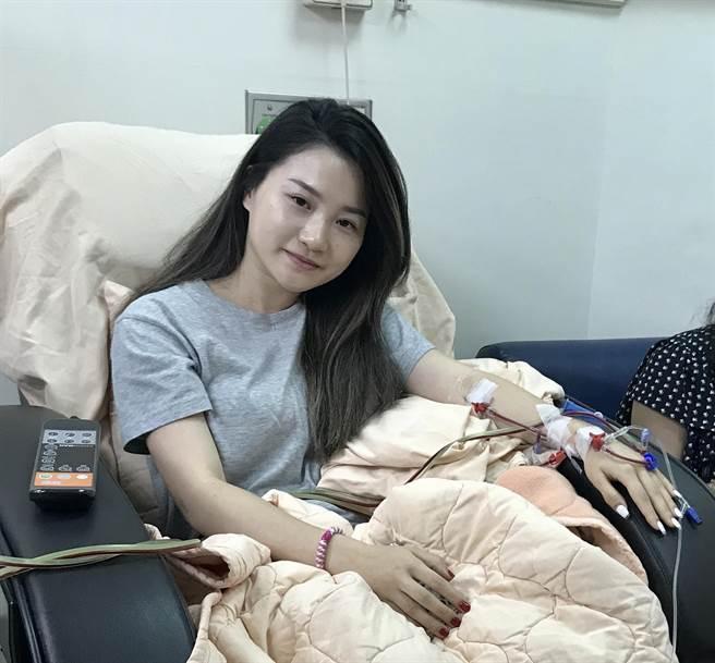 楊蟬聲捐出周邊血幹細胞。(慈濟基金會提供/王志偉花蓮傳真)