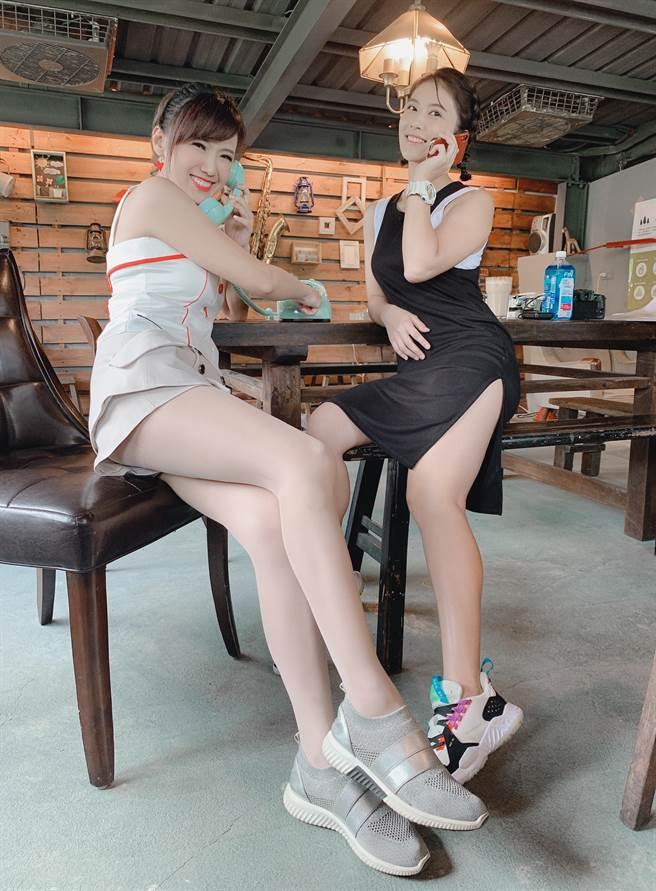 卓君澤(右)與廖盈婷試駕還去享受秘境下午茶。(Studio Six提供)