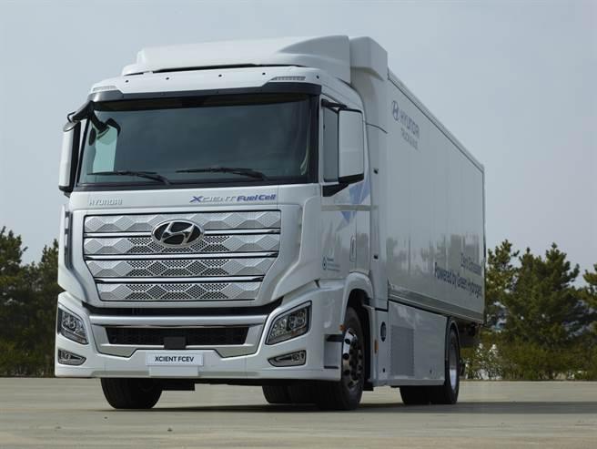 現代汽車的Xcient燃料電池卡車。(圖/現代汽車)