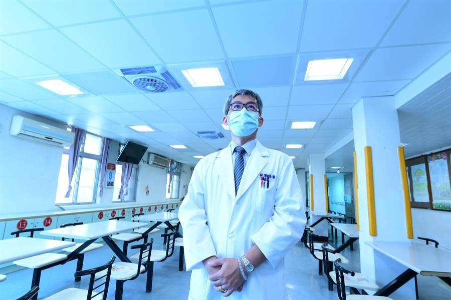 工研院「光療照護系統」讓慢性精神病患做光照治療,改善病患因季節而產生的憂鬱狀況。(工研院提供/羅浚濱新竹傳真)