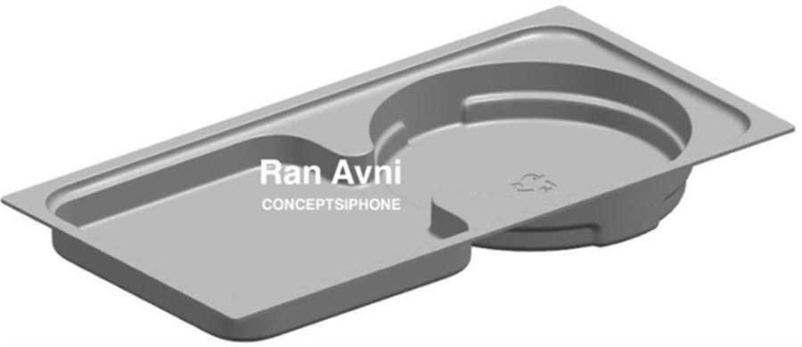 ConceptsiPhone的Ran Avni製作的iPhone 12包裝內托盤概念圖。(摘自MacRumors)