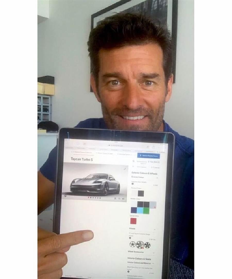 Porsche品牌大使Mark Webber 負起職責兼任Taycan「帶貨」大使