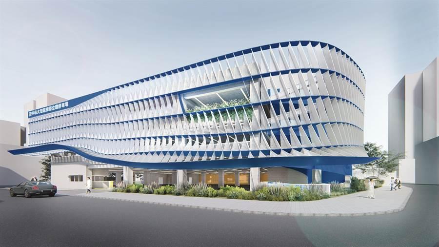 台中市交通局斥資1.81億元,8日動工,將把大里東榮停車場,闢建為地下一層、地上3層的立體停車場。(台中市交通局提供/黃國峰台中傳真)