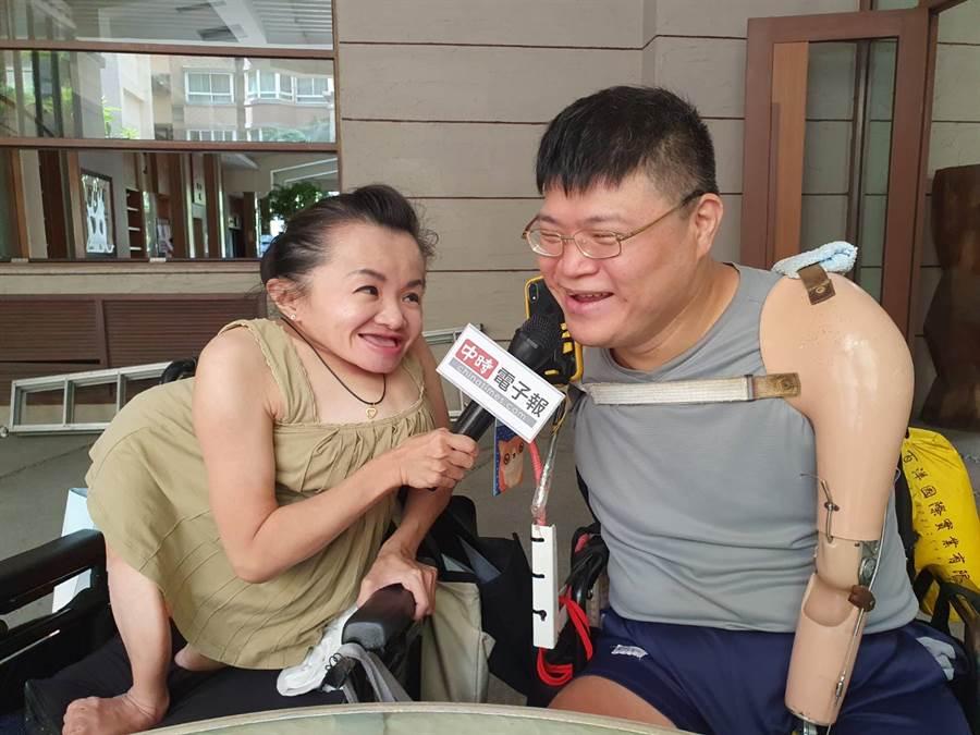 41歲玻璃娃娃陳靜琪來台找到真愛,去年10月底與丈夫許世皇結婚。(照片/游定剛 拍攝)