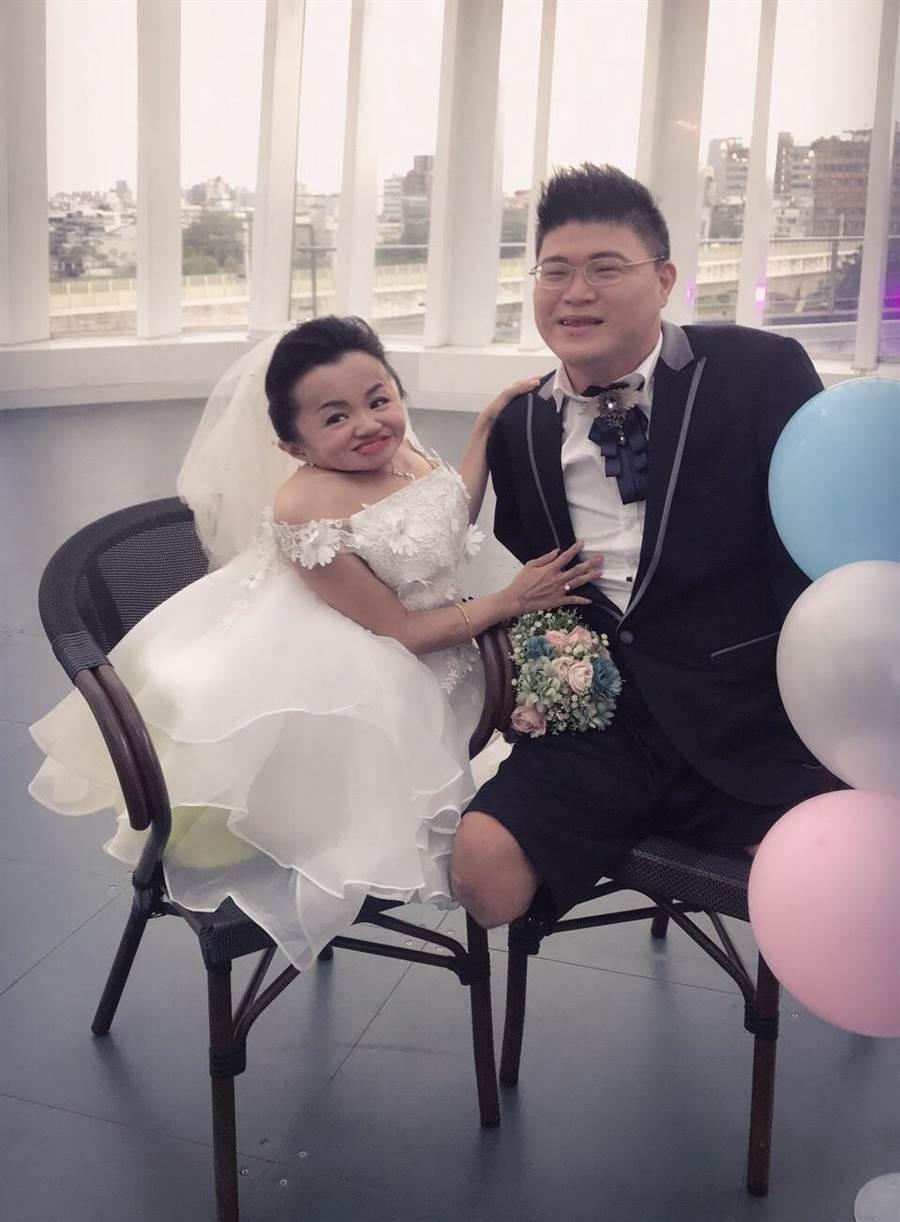 靜琪與世皇日前完成婚紗照拍攝。(照片/陳靜琪 提供)