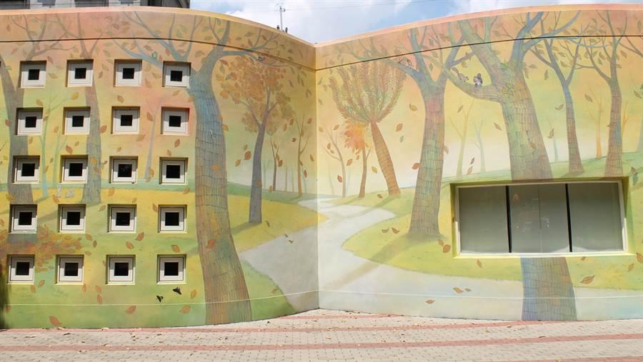 彰化縣不少國小的校園,美得像則童話故事。(吳敏菁攝)