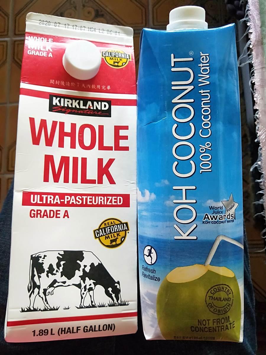 原PO推薦椰子水+鮮奶1:1混合,是非常完美的消暑飲品,網友一看驚呼「母湯」,直言會拉肚子拉到爽 (圖/Costco好市多 商品經驗老實說)