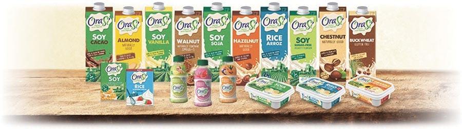 聚得富進口的OraSi歐瑞仕穀物飲品100%全素,完全符合素食者的食品,對於乳糖不耐症者,或對麩質過敏或腸胃敏感者非常適合。圖/林宜蓁