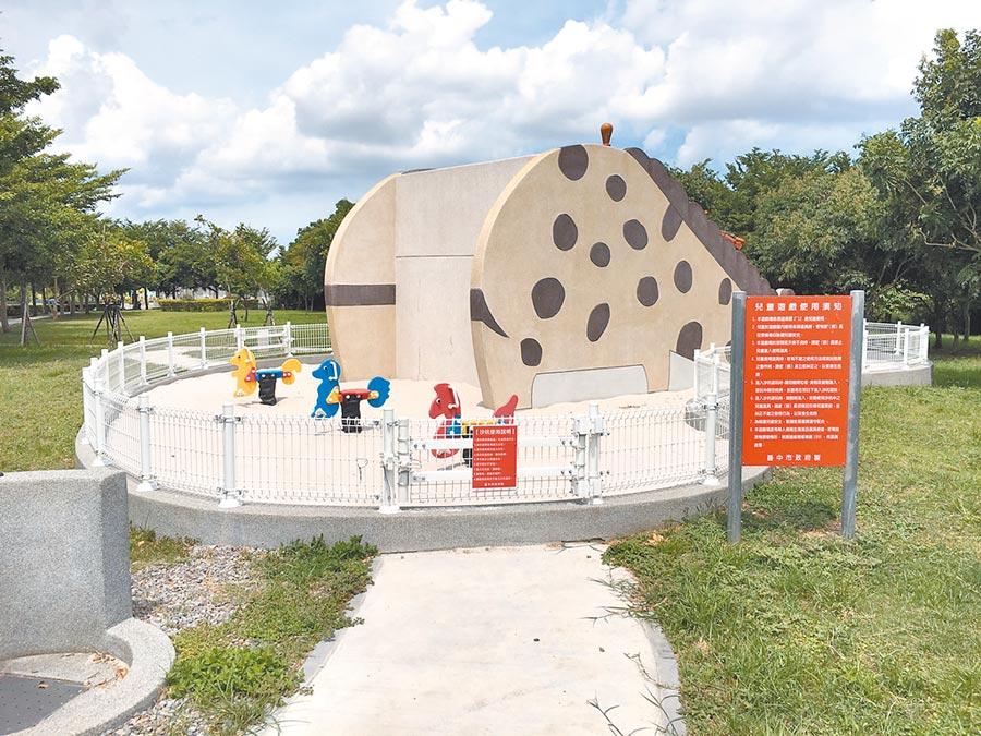 外埔幸福公園由公墓改建而成,是附近居民休憩好去處。(陳淑娥攝)