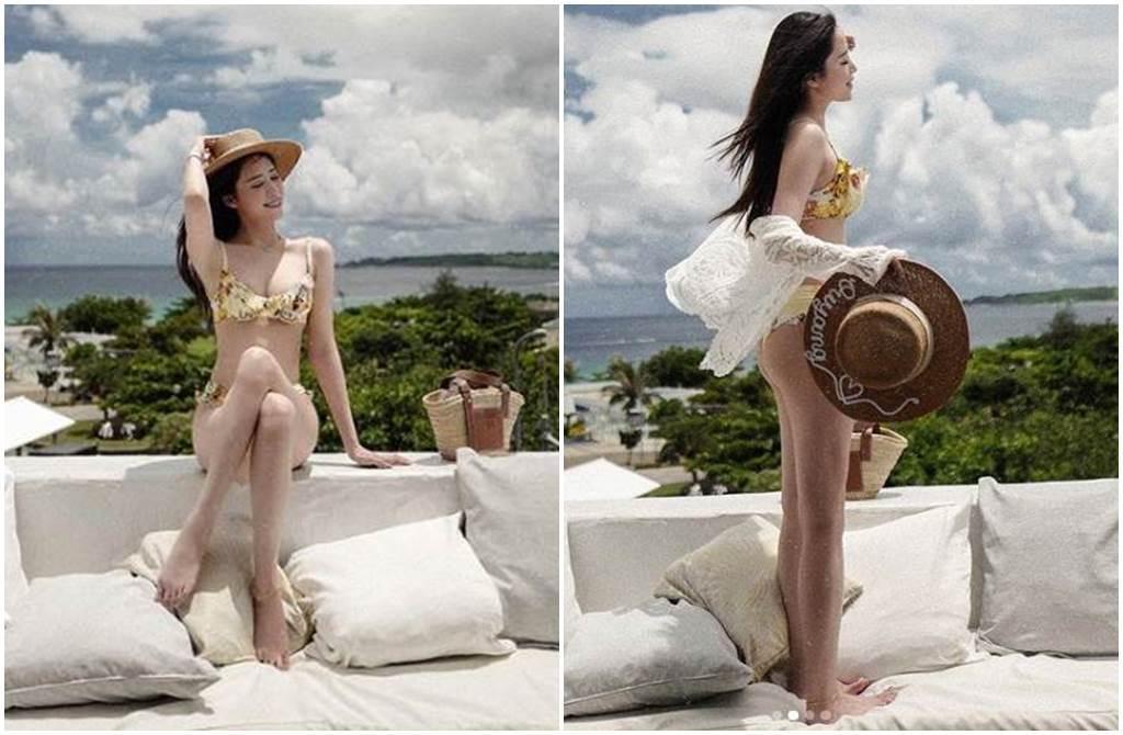 歐陽妮妮曬出一系列泳裝照引發熱議。(圖/niniouyang IG)