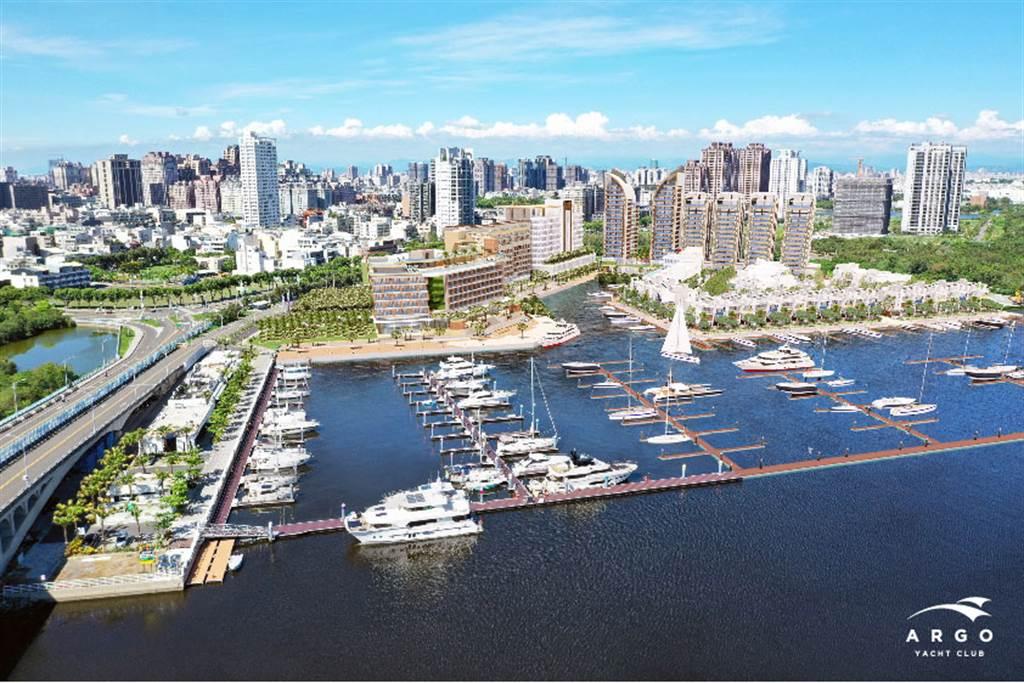 企業巡禮 亞果遊艇-安平遊艇城模擬圖。(圖/理財周刊提供)