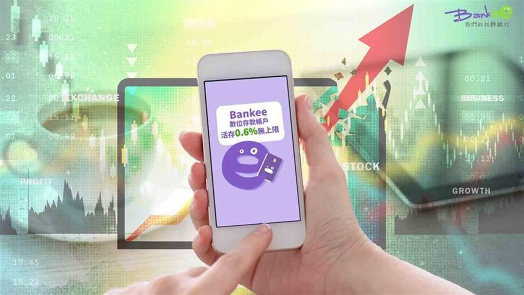 (投資族停泊資金在遠東商銀Bankee數存帳戶,年息增20倍且高利無額度上限。圖/遠東商銀提供)