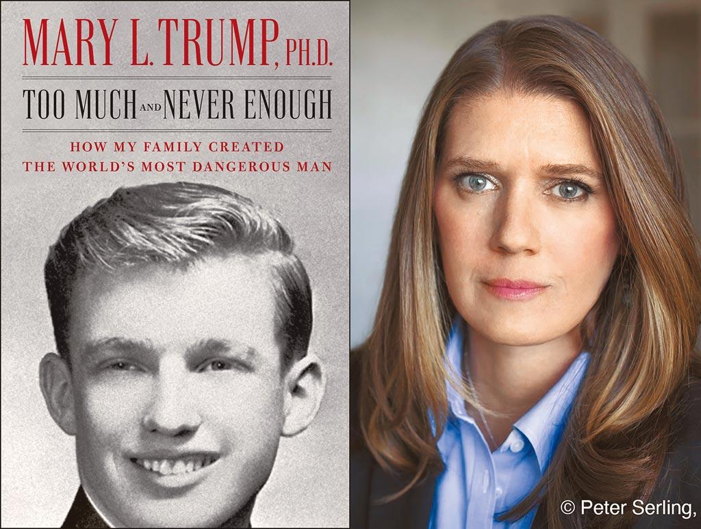 美國總統川普的姪女瑪麗川普,揭發家族醜事的新書因討論度爆表,將在14日出版。(美聯社)