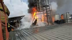 岡山家禽批發市場清晨火警 幸無人傷亡