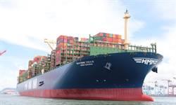 高雄港迎貴客 迎全球最大貨櫃船王彎靠