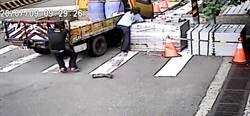 驚悚畫面曝光!人本城區工程車失速下衝 差點撞出人命