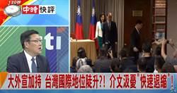 大外宣加持 台灣國際地位陡升?介文汲憂「快速退縮」