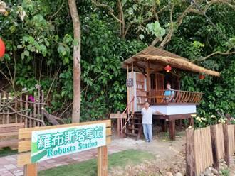 化腐朽為木屋 木工理事長變出一座「羅布斯塔車站」