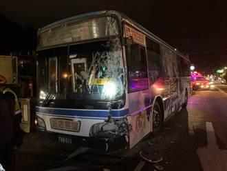 新店安康驚傳2公車相撞車禍 擋風玻璃破碎 多人受傷