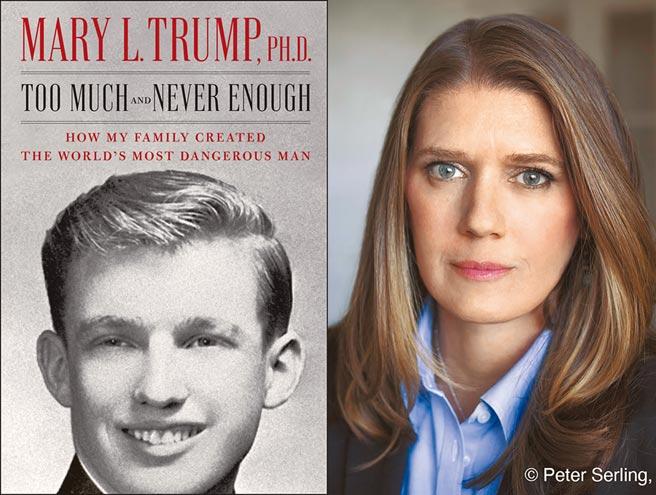 美國總統川普的姪女瑪麗川普,揭發家族醜事的新書因討論度爆表,將在14日出版。書中描繪川普的自戀人格,很大部分受到「高功能反社會人格」的父親弗列德的情緒虐待影響。她並指出川普為進入名校,花錢找槍手作弊。(美聯社)