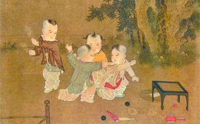 古代童子於書院遊憩。(取自微博@儒家網)