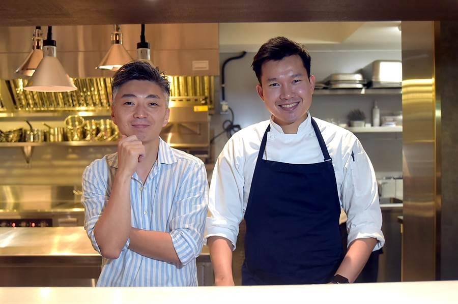 〈COAST〉是台北米其林一星主廚Richie林全(左),在台北開出的第4間餐廳。(圖/姚舜)