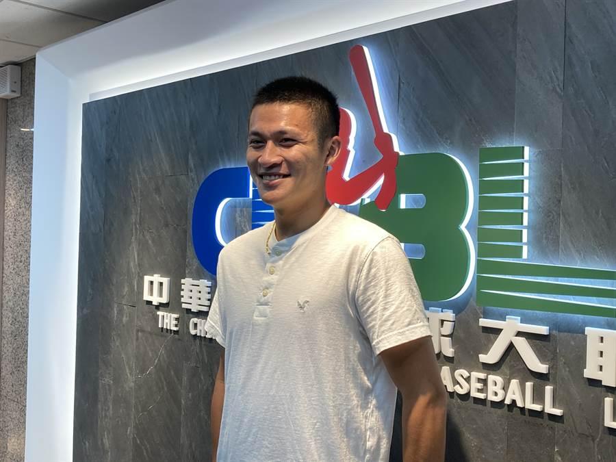 穀保家商捕手林辰勳正式報名中職選秀。(鄧心瑜攝)