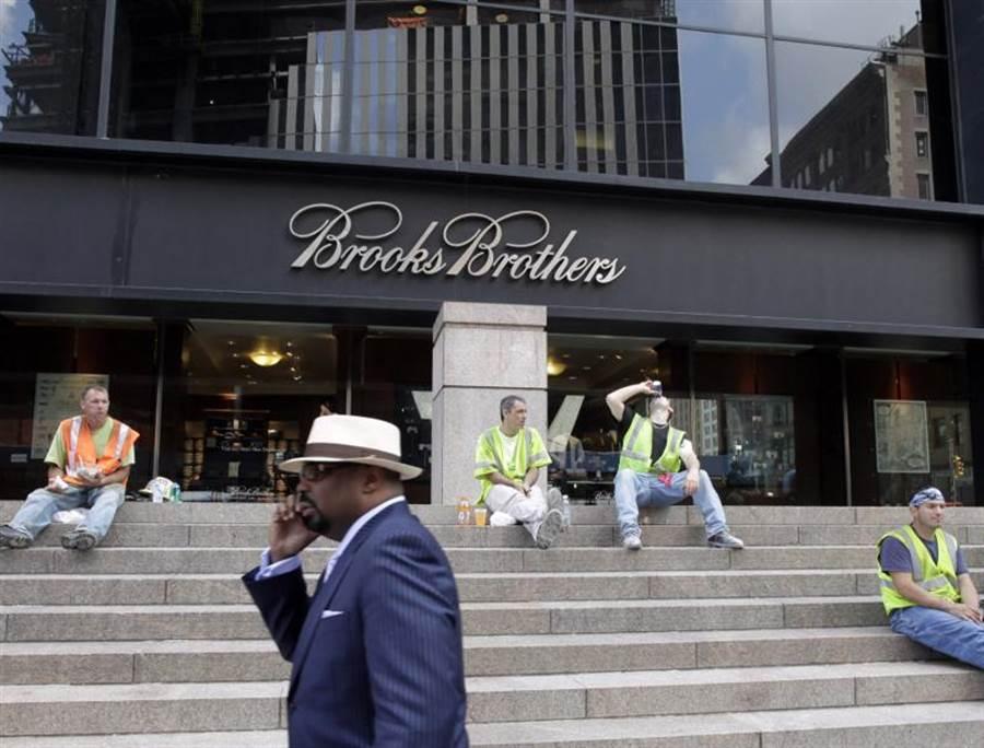 Brooks Brothers不敵疫情破產,門市多數關閉。(圖/美聯社)