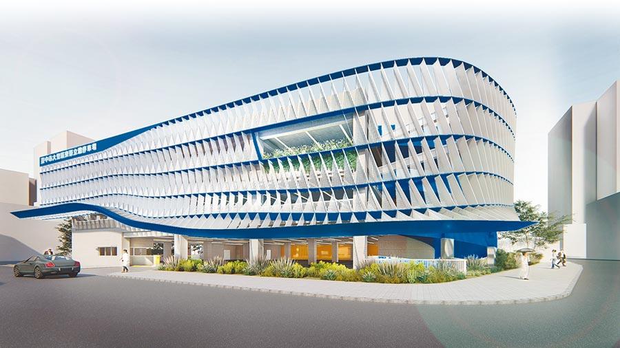 台中市交通局斥資1.81億元,8日動工,將把大里東榮停車場,闢建為地下1層、地上3層的立體停車場。(台中市交通局提供/黃國峰台中傳真)