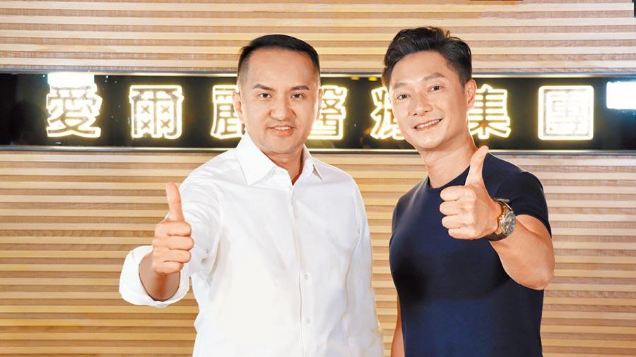 董事長常如山(左)