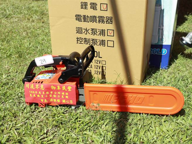 員林市公所連續7年編列經費補助員林市農民採購小型農機,讓農業生產更加省時、省力又省工,提升生產效率。(公所提供/謝瓊雲彰化傳真)
