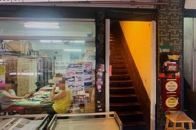陳男在不遠處的民宅提供換錢服務。(警方提供/陳鴻偉台北傳真)