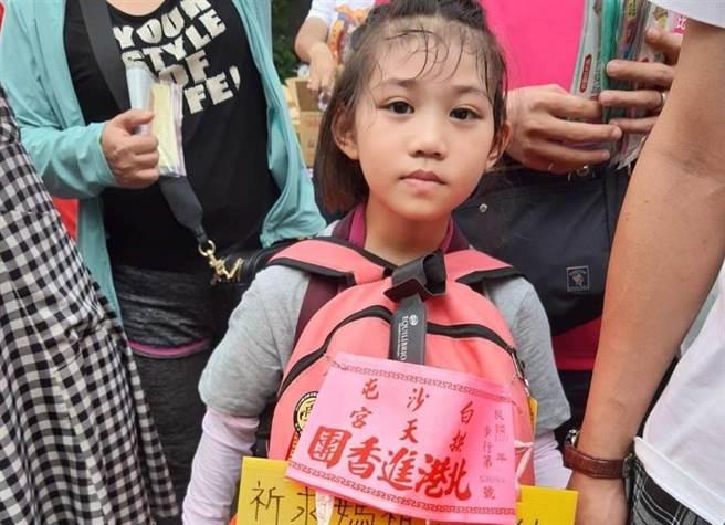 白沙屯媽祖顯神蹟,花蓮6歲羅小妹妹徒步進香祈福今順利完成第4次手術。(中時資料庫)