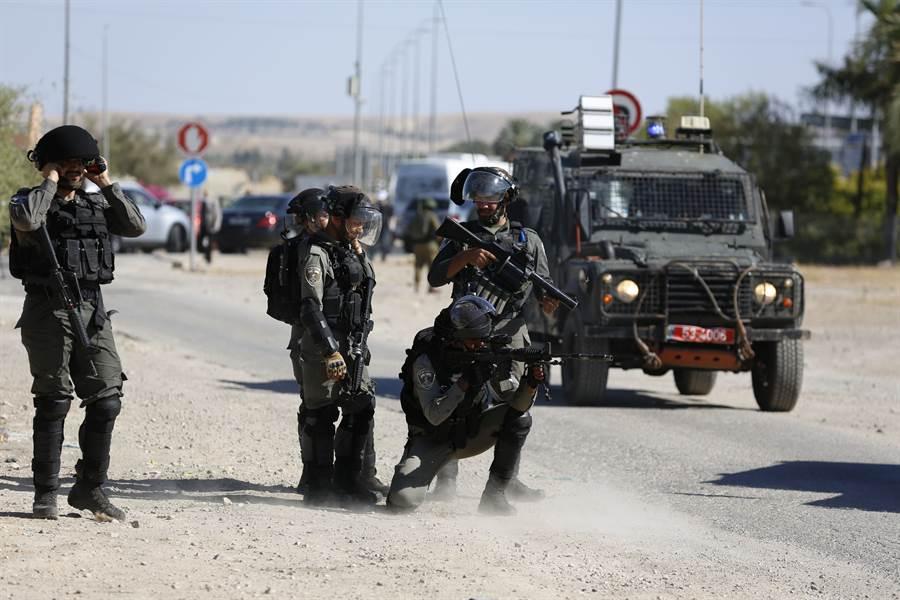 約旦河西岸以色列軍隊。(美聯社)