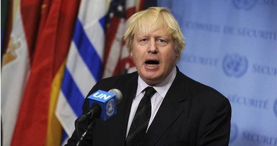 英國首相強生(Boris Johnson)。(圖/美聯社)