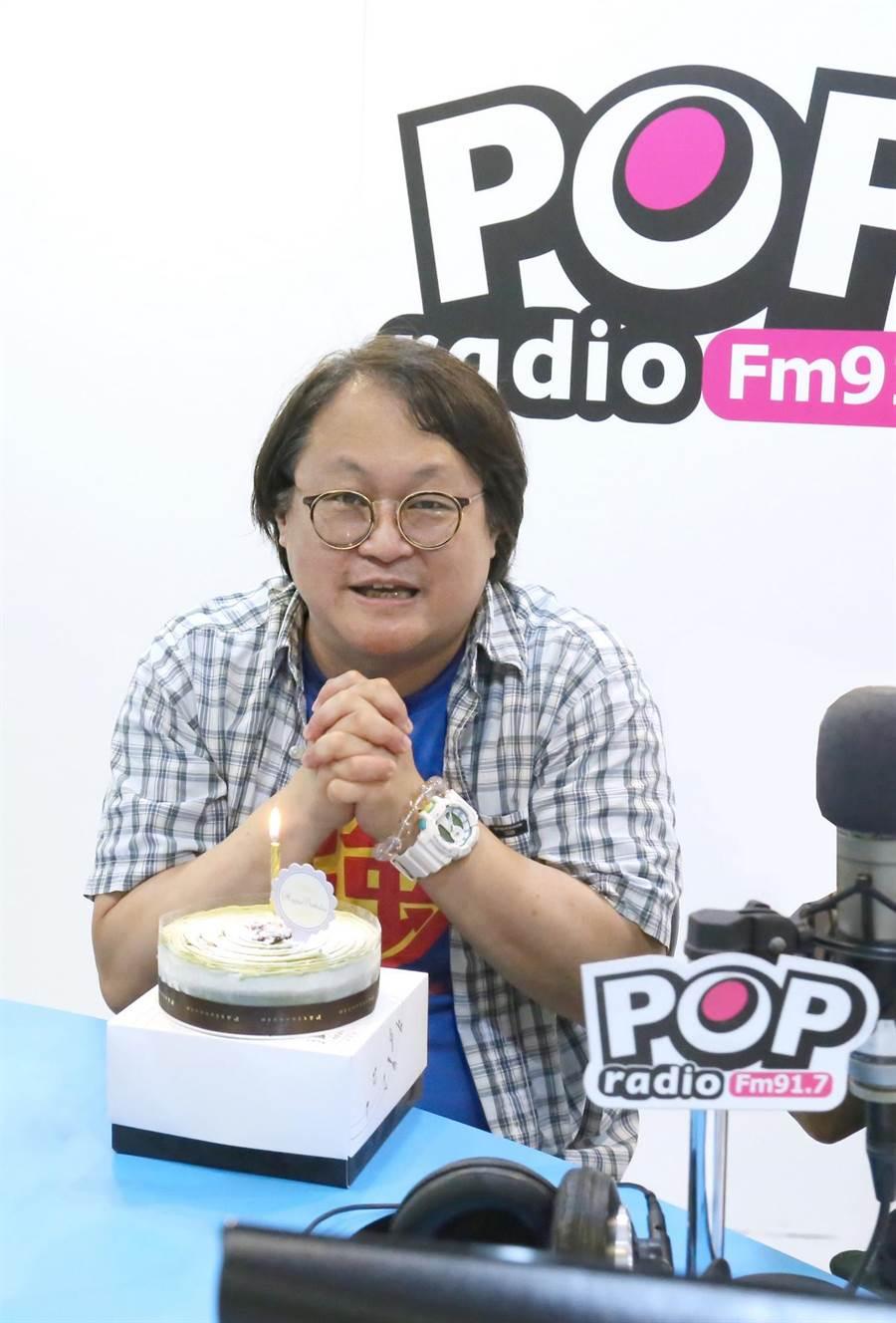 趙自強日前上電台受訪。( POP Radio提供)