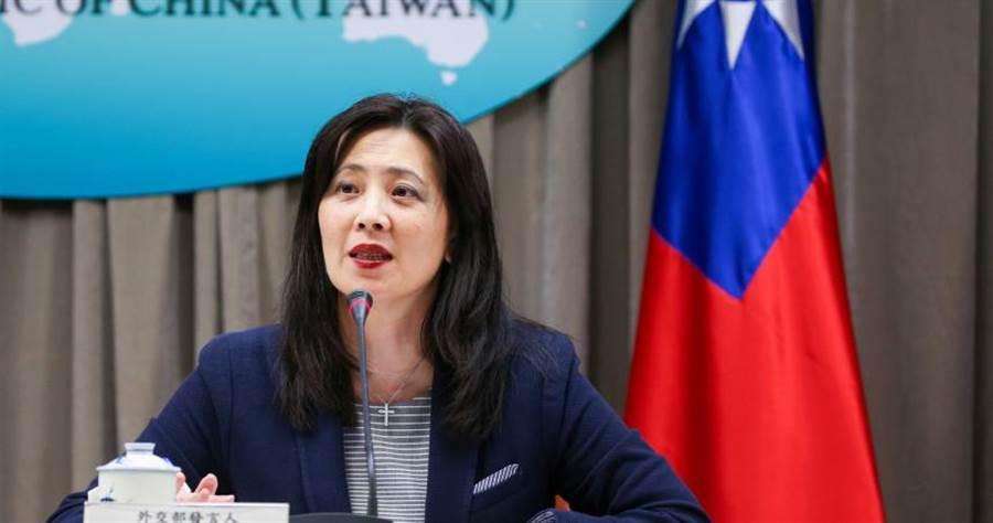 外交部發言人歐江安說,我國對於莫里森、安倍以及龐培歐的有力支持表達誠摯感謝。(圖/鄭清元攝)