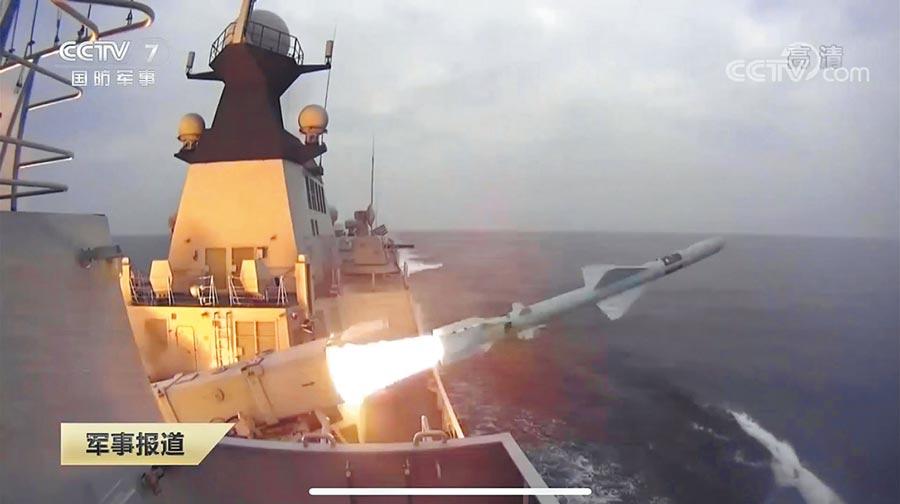 解放軍在渤海進行跨戰區演練。(截圖自央視網)