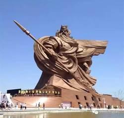 全球最大關公銅像地基發生沉降 並爆屬於違建