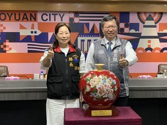 徐榛蔚率團訪桃園 鄭文燦:「超越藍綠」